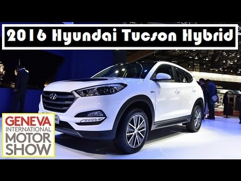 2016 hyundai tucson hybrid live photos at 2015 geneva motor show youtube. Black Bedroom Furniture Sets. Home Design Ideas