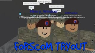 Roblox Fort Martin Parachute Freefall Forscom (TRYOUTS)
