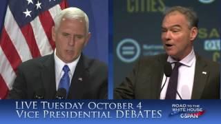 Promo: Vice Presidential Debate from Longwood University on C-SPAN