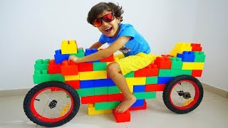 Jessy and Miles pretend play with motor bike !!! w/ Mcqueen and Friends
