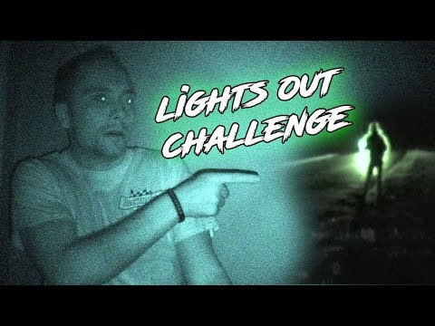 LIGHTS OUT CHALLENGE IN THE HAUNTED FARM HOUSE