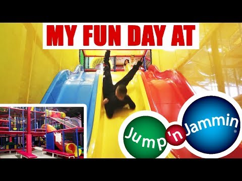 My Fun Day At Jump 'N Jammin [ Giant Indoor Playground ] Vlog