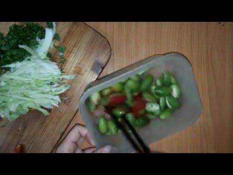 Cách làm nhót xanh dầm muối ớt bắp cải theo kiểu Tây Bắc