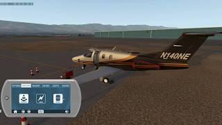 Aerobask Eclipse 550 for  X-Plane from Santa Barbara to Las Vegas