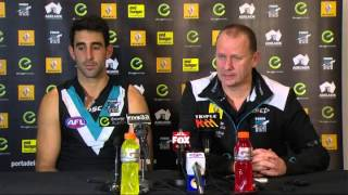 Ken Hinkley and Dom Cassisi post-game - R18, 2014 v Melbourne
