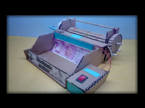 How to make awesome money counting machine  ll simple way ll by mechanic maker