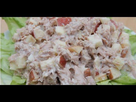 Салат из тунца консервированного - пошаговый рецепт с фото