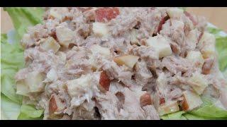 Салат из консервированного тунца / Белковый салат / Правильное Питание