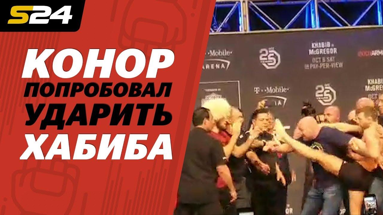 Конор попробовал ударить Хабиба! | Sport24