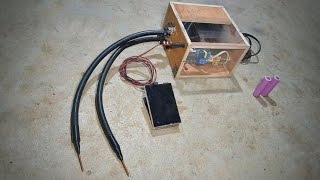 Make your own spot welder with foot pedal.
