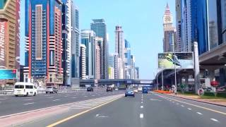Dubai - UAE Street 2016 4k filming | شوارع مدينه دبي - الإمارات 2016