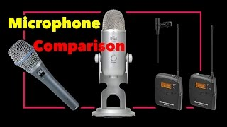 Blue Yeti vs Shure Beta 87A vs Sennheiser G3 Wireless (Microphone Comparison)