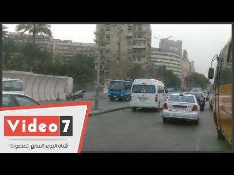 اليوم السابع :النشره المرويه..كثافات مرورية متوسطة بمحاور وميادين القاهرة
