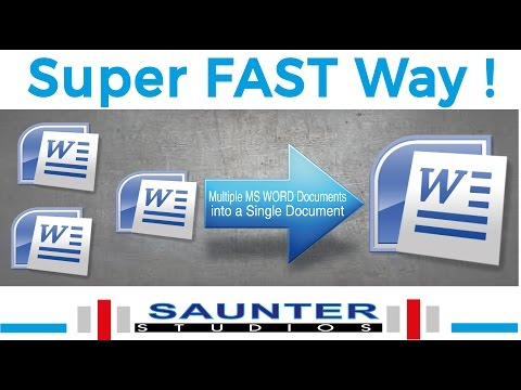 How To Combine Multiple MS Word Documents Into Single MS Word Document