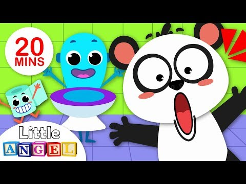 Baby Panda Potty Song | Johny Johny Yes Papa | Baby Shark Where is my Fin?  by Little Angel