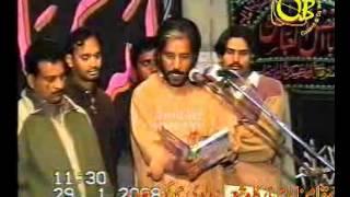 Zakir Malik Sajid Hussain of Rukan , yadgar old majlis at jhang sadar