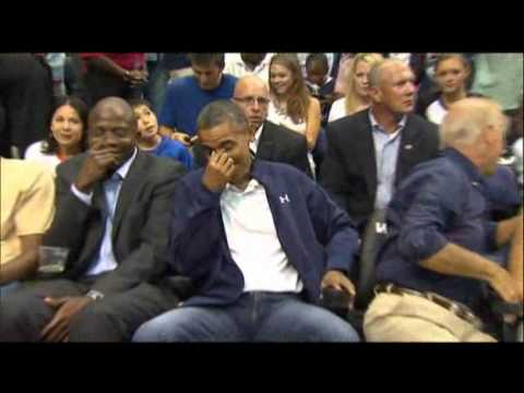 Thumbnail: Raw Video: Kiss Cam Catches Obamas