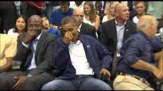 Video Raw Video: Kiss Cam Catches Obamas download MP3, 3GP, MP4, WEBM, AVI, FLV Juni 2018