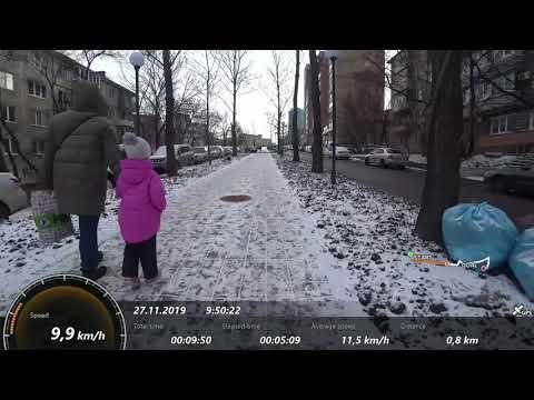 Зимние покатушки на велосипеде по городу В