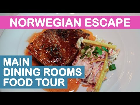 norwegian-escape-(ncl):-main-dining-rooms-food-tour