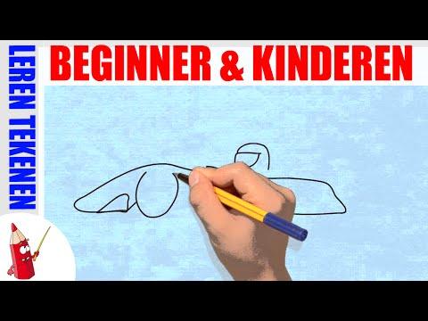 Raceauto Tekenen in 60s - Leren tekenen voor beginners en kinderen ★ Deel 51