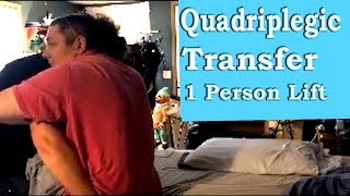 Quadriplegic One-on-one Bed to Wheelchair Transfer Lift