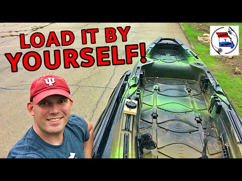 How to Load & Unload Kayak by Yourself   How to Strap a Kayak to a Roof Rack