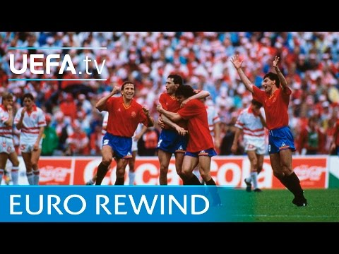 EURO 1988 Highlights: Spain 3-2 Denmark