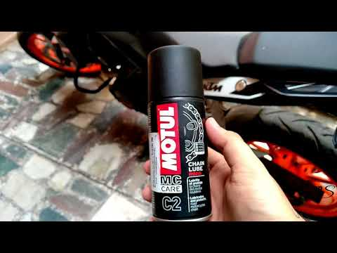 KTM Duke 200 | Best chain spray | MOTUL C2 | Review