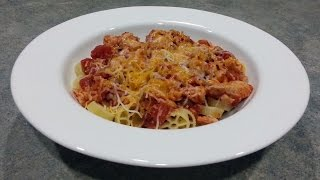 Salsa Chicken and Wagon Wheel Pasta