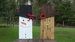 snowman & scarecrow craft