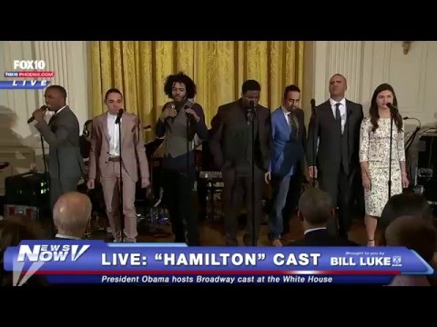 """FNN: President Obama Welcomes """"Hamilton"""" Cast from Broadway to White House"""