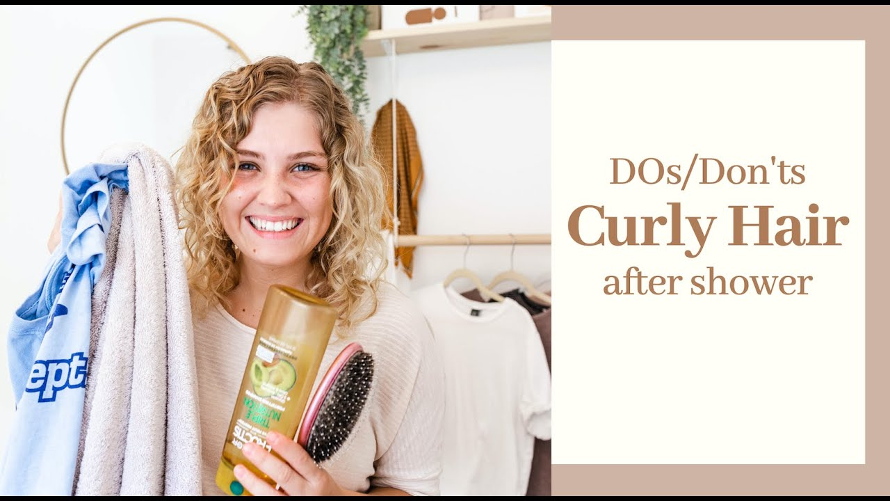 CURLY HAIR shower routine (dos/donts)!! - YouTube