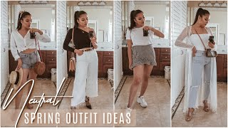 Styling Neutral Spring Outfits for a size 6-8