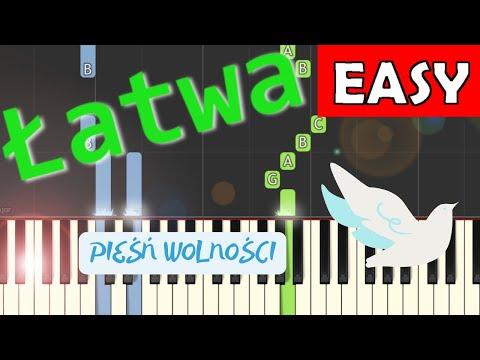 🎹 Pieśń wolności (piosenka patriotyczna) - Piano Tutorial (łatwa wersja) 🎹