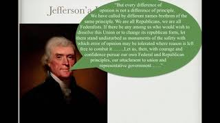 apush review breaking down thomas jefferson s inaugural address
