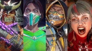 Mortal Kombat 11 - All Characters Intros Dialogues with Alternate Costumes Outfit (MK11)