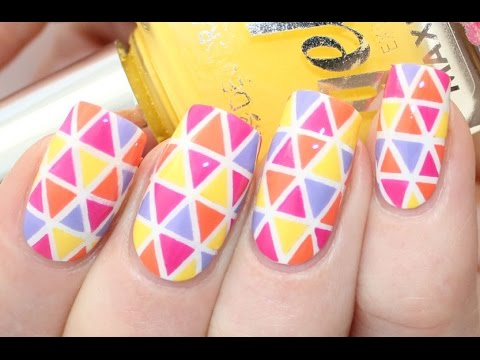- Colorful Triangle Nail Art Tutorial - YouTube