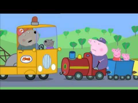 Свинка Пеппа українською сезон 2 серія 38 Дідусів паровозик