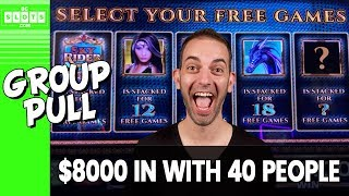 👩‍👩‍👧 40 Person Group Pull! 💰 $8000 @ Mohegan Sun CT ✪ BCSlots