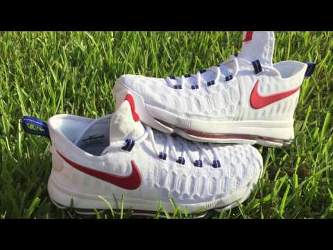 Kd 9 USA/Olympic detailed look and on foot