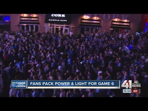 Royals fans celebrate at the Power and Light District