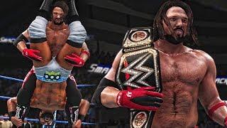 WWE 2K18 Smackdown Live - AJ Styles Wins WWE Championship - Smackdown 11/7/17