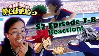 TWO FOR ONE BATTLE! | My Hero Academia S2 Ep 7-8 | Kitty Reacts