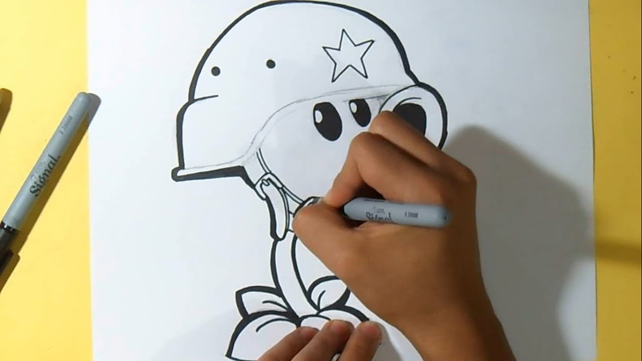 Comment dessiner plantes vs zombies youtube - Dessin de zombie ...