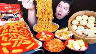 Cheesy Fire Noodles • MUKBANG