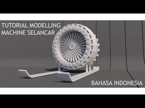 Cinema 4D Tutorial - Modelling Machine Selancar (Bahasa Indonesia)