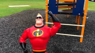 Mr. Incredible | Incredibles 2 Toy Fun At The Park With Special Guest Lightening McQueen pt 1