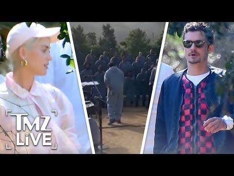 Katy Perry & Orlando Bloom Attend Kanye's Church Service | TMZ Live Mp3