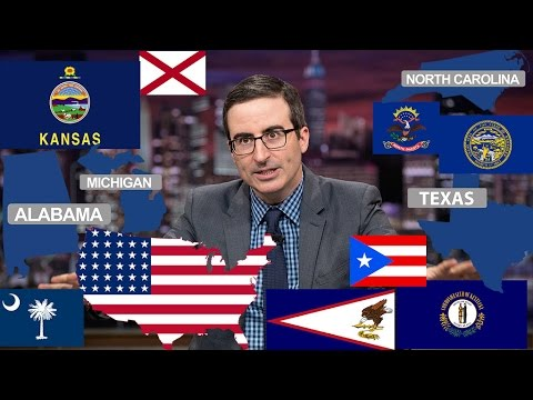 John Oliver Describes American States (Funny Compilation)